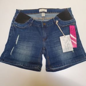 Angel Kiss Maternity Denim Shorts